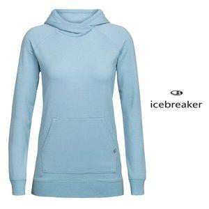 NWT Icebreaker Mira Merino Pullover Hoodie in Blue